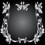 Silver monogram — Stock Photo