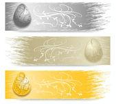 Easter Egg banner  — Stock Vector