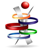 3d symbol creative design — Stock Vector
