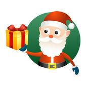 Santa Claus with gift box — Stock Vector