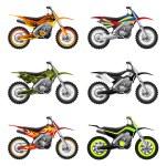 Sport motorcycles set — Stock Vector #37650397