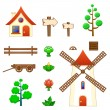 Stock Vector: Farm assets