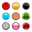 Stock Vector: Square buttons back