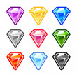 Colourful Diamonds — Stock Vector