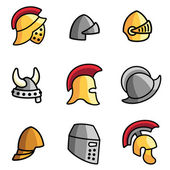 Old Helmets — Stock Vector
