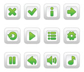 Green buttons for game — Stock Vector