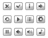 Metall buttons for game — Vector de stock