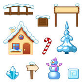 Winter assets — Stock Vector