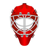 Goalie helmet — Stock Vector