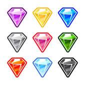 Colourful Diamonds — Stock Vector