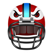 Football helmet with eyes — Vecteur