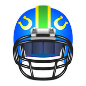 Football helmet with horseshoe — Stockvector