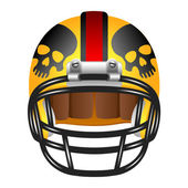 Football helmet with skull — Stock Vector