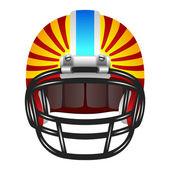 Football helmet with stripes — Vector de stock