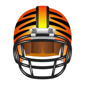 Football helmet with tiger stripes — Stock Vector