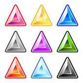 Colourful Triangle Diamonds — Stock Vector