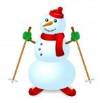 Ski snowman — Stock Vector #38237943