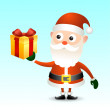 Santa Claus with gift box — Stock Vector