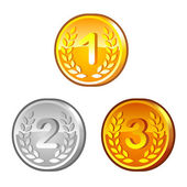 Medals with numerals — Stock Vector