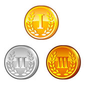 Medals with roman numerals — Stock Vector