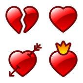 Kalp simgeler — Stok Vektör