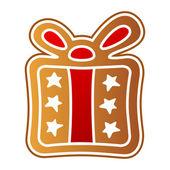 Gingerbread gift — Stock Vector