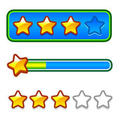 Progress bar set with stars — Stock Vector