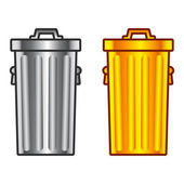 Retro dustbin — Stock Vector