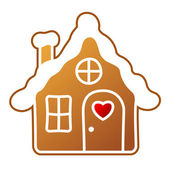 Gingerbread Home — Stock Vector