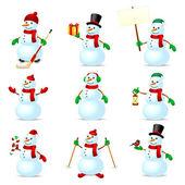 Conjunto de boneco de neve — Vetorial Stock