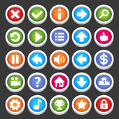 Game icons — Stock Vector