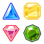 Set of diamonds — Stock Vector