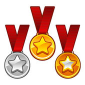 Medals with stars — Stock Vector