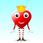 Heart character — Stock Vector