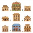 Wild West buildings — Stock Vector