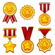 Medals with star — Stock Vector #38722245