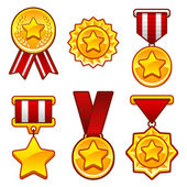 Medals with star — Stock Vector