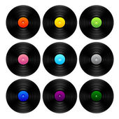 Vintage vinyl set — Stock Vector