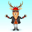 Stock Vector: Deer rocker