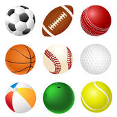 Set of balls — Stock Vector