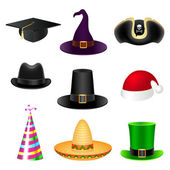 Party hat set — Stock Vector