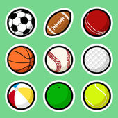 Ball stickers — Stock Vector