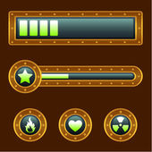 Steam punk progress bar — Stock Vector