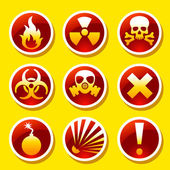 Warning stickers — Stock Vector