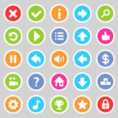 Flat game icons 8 — Stock Vector