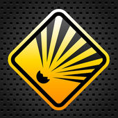 Explosion warning sign — Stockvektor