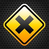 Warning sign 2 — Stock Vector