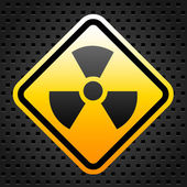 Radiation warning sign — Stock vektor
