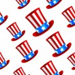 Uncle Sam hat background — Stock Vector