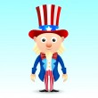 Uncle Sam character — Stock Vector